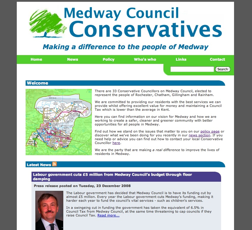 Medway Conservative Group homepage